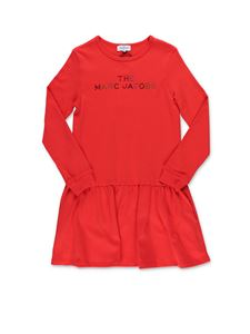Little Marc Jacobs - Red dress with crystals logo