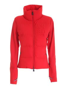 Moncler Grenoble - Down detail cardigan in red