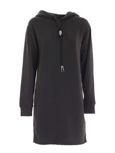 POLO Ralph Lauren - Tone-on-tone embroidery dress in dark grey