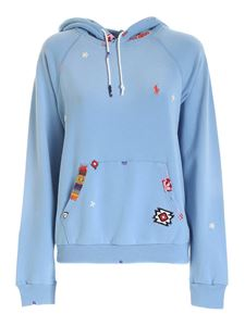 POLO Ralph Lauren - Embroidery and patch sweatshirt in light blue