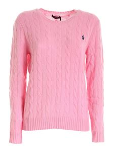 POLO Ralph Lauren - Blue logo embroidery pullover in pink