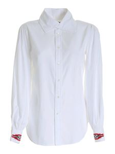 POLO Ralph Lauren - Contrasting embroidery shirt in white
