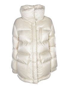 Woolrich - Quilted down jacket in ivory color