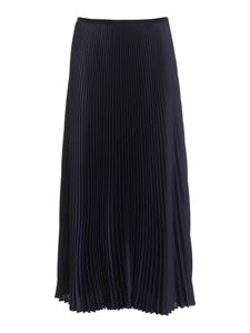 Paolo Fiorillo - Satin pleated skirt in blue