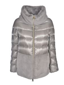 Herno - Down jacket with synthetic fur in grey