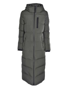 Moose Knuckles - Long down jacket in army green