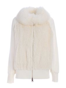 Herno - Fur details jacket in white