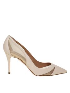 Aquazzura - Decollete 'savoy in leather in cream color