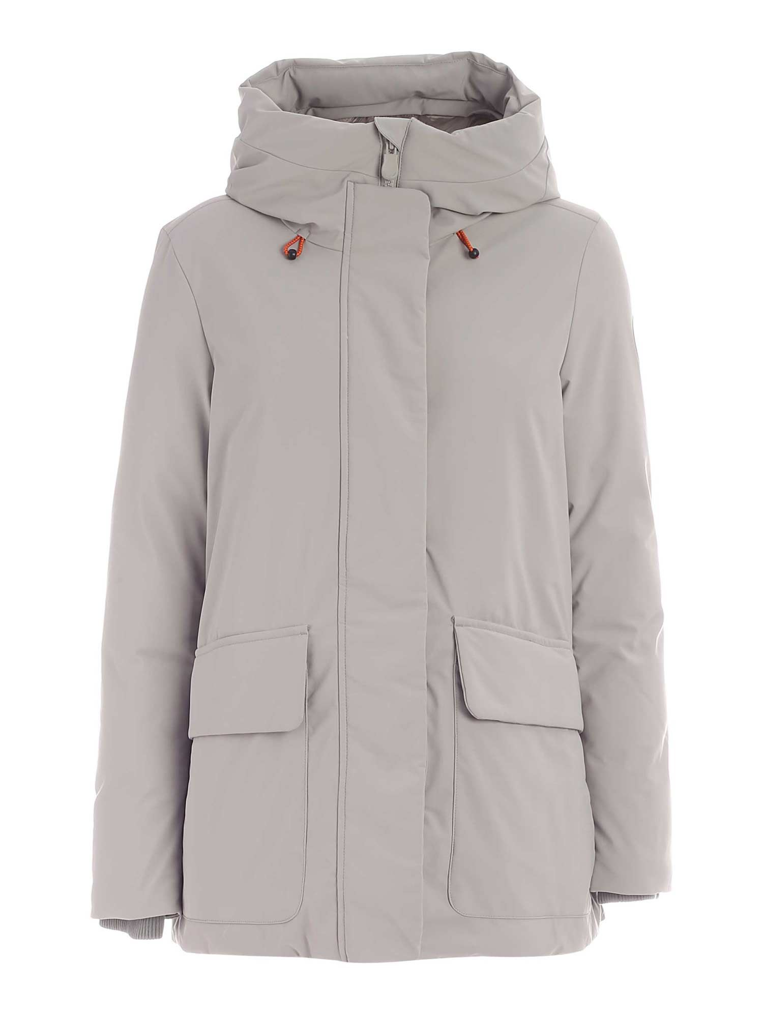 Save The Duck SMEGY GREY PARKA WITH HOOD