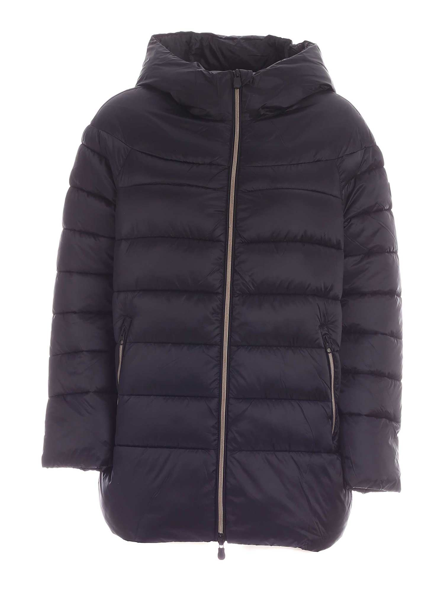 Save The Duck IRISY BLACK DOWN JACKET WITH HOOD