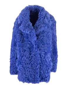 Off-White - Pelliccia in shearling blu