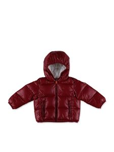 Save the duck - Hooded puffer jacket in red