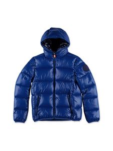 Save the duck - Hooded down jacket in blue