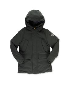 Save the duck - Hooded jacket in green