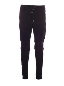 Balmain - Contrasting details trackpants in black
