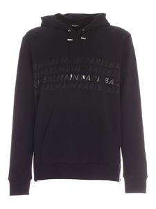 Balmain - Side zip sweatshirt in black