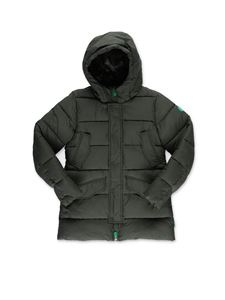 Save the duck - Hooded puffer jacket in green
