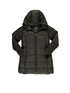 Save the duck - Flared down jacket in green