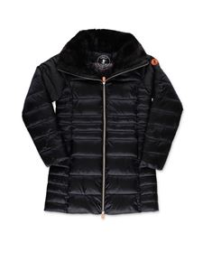 Save the duck - Teddy collar down jacket in black
