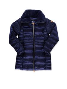 Save the duck - Teddy collar down jacket in blue