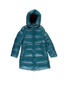 Save the duck - Shiny down jacket in green