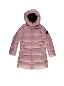 Save the duck - Shiny down jacket in pink