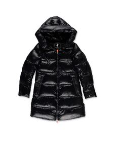 Save the duck - Shiny down jacket in black