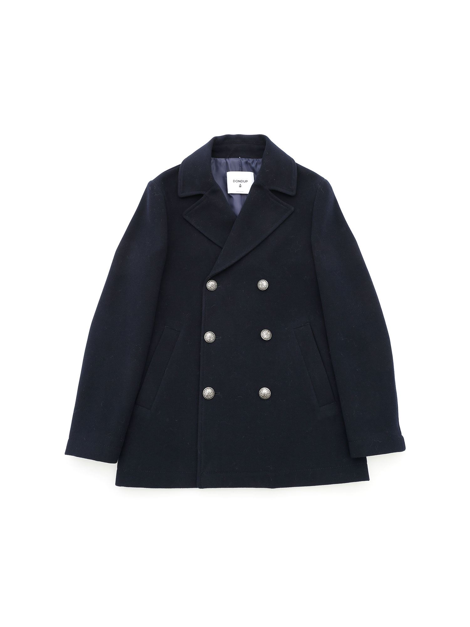 Dondup SINGLE-BREASTED COAT IN BLUE