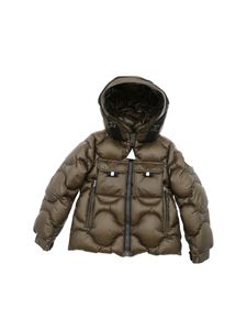 Moncler Jr - Zonzo green down jacket with hood