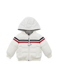 Moncler Jr - Perd white down jacket with hood