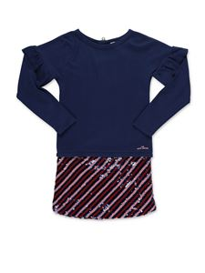 Little Marc Jacobs - Sequin skirt dress in blue