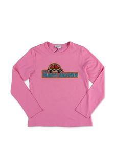 Little Marc Jacobs - Sequin logo T-shirt in pink