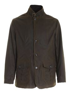 Barbour - Cappotto  Lutz in cotone cerato verde