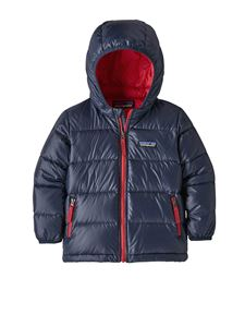 Patagonia - Down jacket in blue with red interior