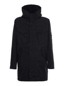 Fay - Double hooded coat in blue