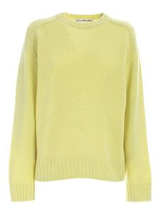 Acne Studios - Crewneck tricot sweater in yellow