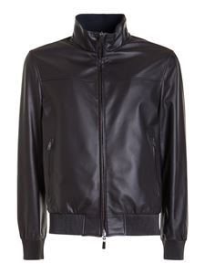 Brioni - Reversible leather jacket in brown
