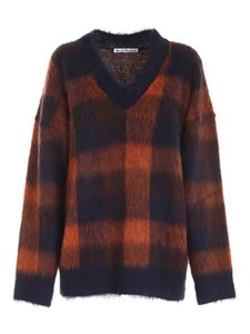 Acne Studios - Checked pattern sweater in blue and orange
