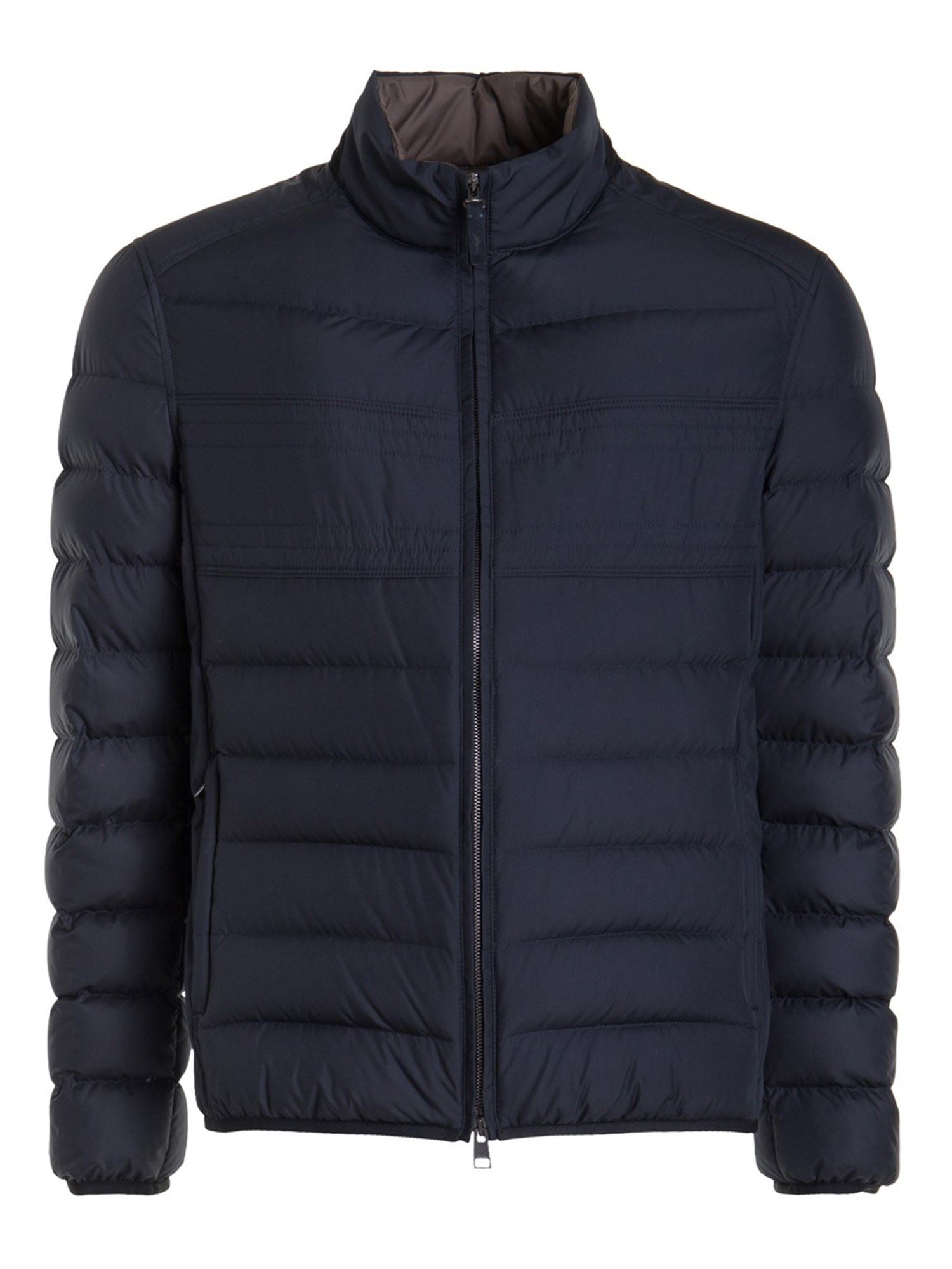 Brioni LIGHT WEIGHT QUILTED PUFFER JACKET IN BLUE