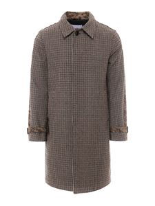 Dondup - Houndstooth and camou patterned coat in multicolor