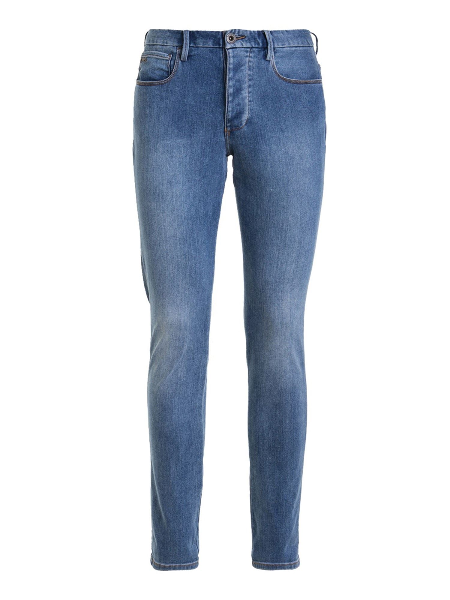Emporio Armani J11 STRETCH COTTON JEANS IN LIGHT BLUE