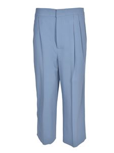 Moschino - Wide leg pants in light blue