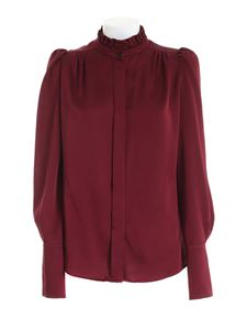 Paolo Fiorillo - Ruffles shirt in burgundy color