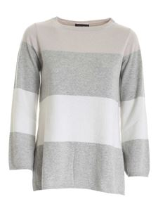 Paolo Fiorillo - Lamé details pullover in pink grey and white
