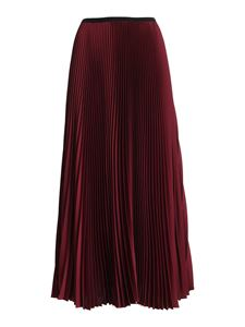 Paolo Fiorillo - Satin pleated skirt in burgundy color