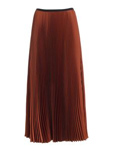 Paolo Fiorillo - Satin pleated skirt in brown