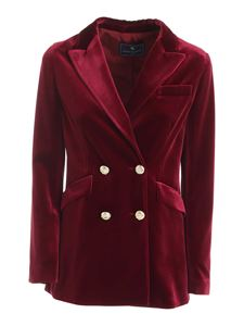 Paolo Fiorillo - Double-breasted velvet jacket in burgundy