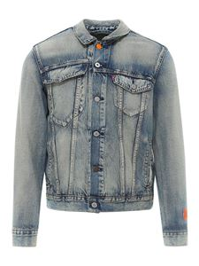Heron Preston - Logo patch denim jacket in blue