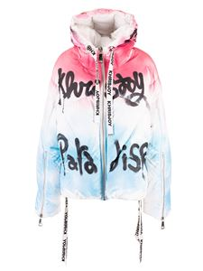 Khrisjoy - Khris Graffiti down jacket in white