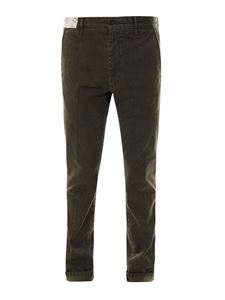Incotex - Cotton chino trousers in green